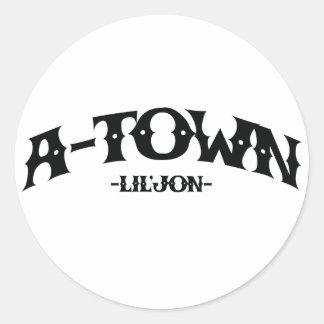 "Lil Jon ""A-Town"" Round Stickers"