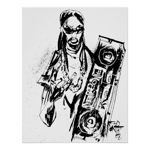 "Lil Jon ""Collaboration by Jim Mahfood and Lil Jon"" Poster"