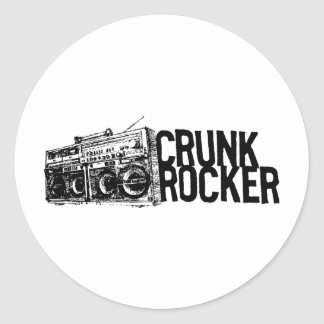 "Lil Jon ""Crunk Rocker Boombox Black White"" Round Sticker"
