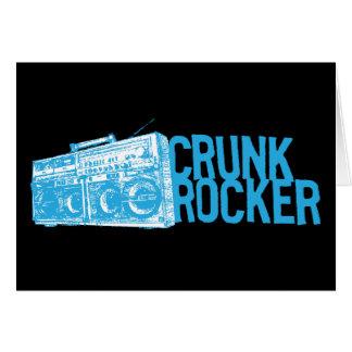 "Lil Jon ""Crunk Rocker Boombox Blue"" Greeting Card"