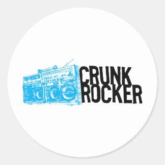 "Lil Jon ""Crunk Rocker Boombox Blue"" Round Sticker"