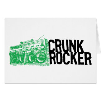 "Lil Jon ""Crunk Rocker Boombox Green"" Greeting Card"
