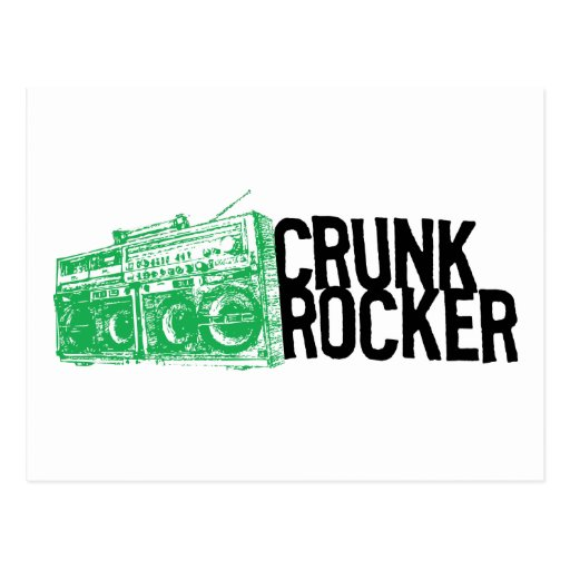 "Lil Jon ""Crunk Rocker Boombox Green"" Post Card"