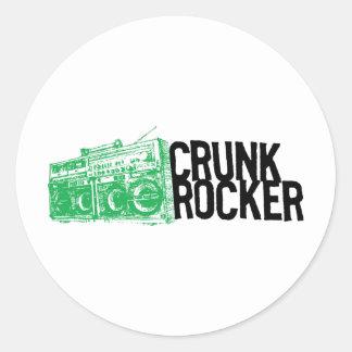 Lil Jon Crunk Rocker Boombox Green Round Stickers