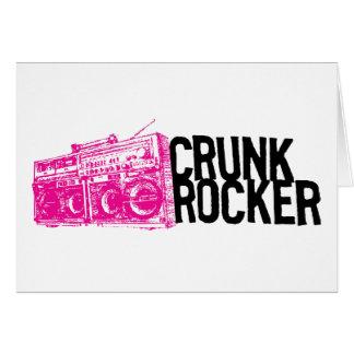"Lil Jon ""Crunk Rocker Boombox Pink"" Greeting Card"