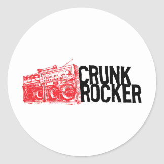 "Lil Jon ""Crunk Rocker Boombox Red"" Round Sticker"