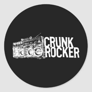 """Lil Jon """"Crunk Rocker Boombox White"""" Round Sticker"""