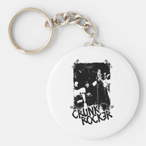 """Lil Jon """"Crunk Rocker Safety Pin Black"""" Key Chain"""