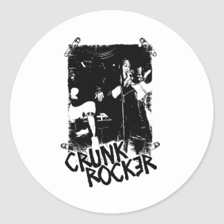 "Lil Jon ""Crunk Rocker Safety Pin Black"" Round Sticker"