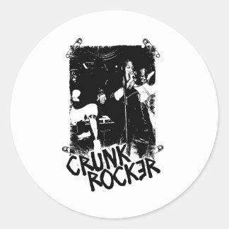 "Lil Jon ""Crunk Rocker Safety Pin Black"" Stickers"