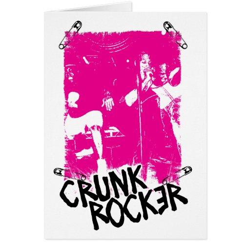 """Lil Jon """"Crunk Rocker Safety Pin Pink"""" Greeting Cards"""