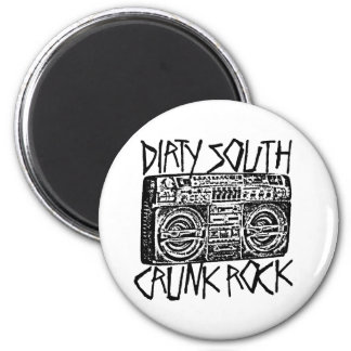 "Lil Jon ""Dirty South Boombox Black"" 6 Cm Round Magnet"