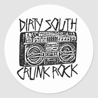 "Lil Jon ""Dirty South Boombox Black"" Round Sticker"