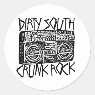 "Lil Jon ""Dirty South Boombox Black"" Classic Round Sticker"