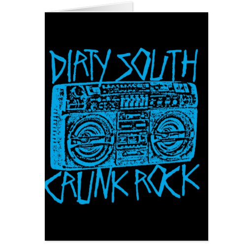 """Lil Jon """"Dirty South Boombox Blue"""" Greeting Cards"""