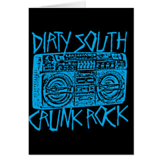 "Lil Jon ""Dirty South Boombox Blue"" Greeting Card"