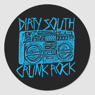 "Lil Jon ""Dirty South Boombox Blue"" Classic Round Sticker"