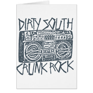 "Lil Jon ""Dirty South Boombox Gray"" Greeting Card"