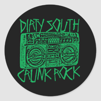 "Lil Jon ""Dirty South Boombox Green"" Round Sticker"