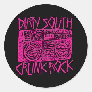 "Lil Jon ""Dirty South Boombox Pink"" Classic Round Sticker"