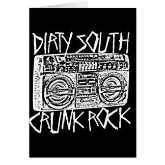 "Lil Jon ""Dirty South Boombox White"" Greeting Card"