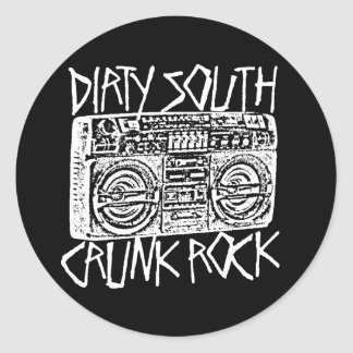 "Lil Jon ""Dirty South Boombox White"" Round Sticker"