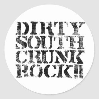 "Lil Jon ""Dirty South Crunk Rock"" Distressed Round Sticker"