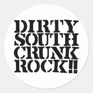 "Lil Jon ""Dirty South Crunk Rock"" Round Sticker"