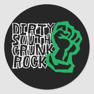 "Lil Jon ""Dirty South Fist"" Green Round Sticker"