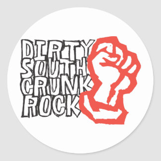 """Lil Jon """"Dirty South Fist"""" Red Classic Round Sticker"""