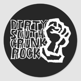 "Lil Jon ""Dirty South Fist"" White Round Sticker"