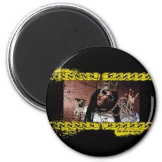 "Lil Jon ""King of Crunk"" 6 Cm Round Magnet"