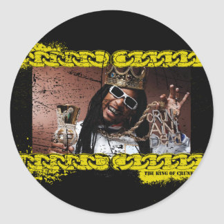 "Lil Jon ""King of Crunk"" Classic Round Sticker"