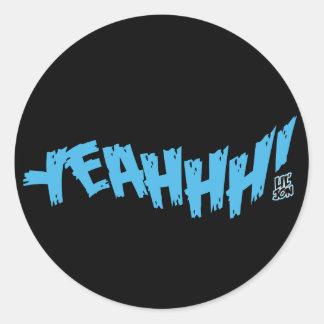 "Lil Jon ""Yeeeah!"" Blue Classic Round Sticker"