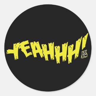 "Lil Jon ""Yeeeah!"" Yellow Classic Round Sticker"