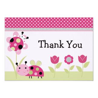 Lil Little Ladybugs Baby Shower Thank You Card 13 Cm X 18 Cm Invitation Card