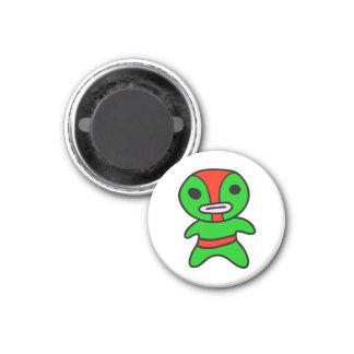 li'l Lucha Libre Wrestler Magnet (Green-Red)
