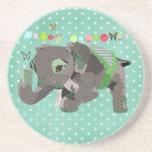 Lil Lucky Elephant Green Coaster