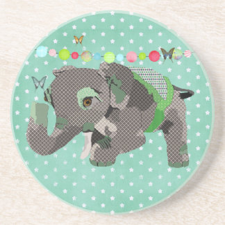 Lil Lucky Elephant Green Coaster