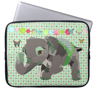 Lil' Lucky Elephant Green Computer Sleeve