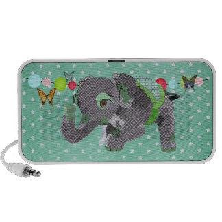 Lil Lucky Elephant Green Doodle Speaker