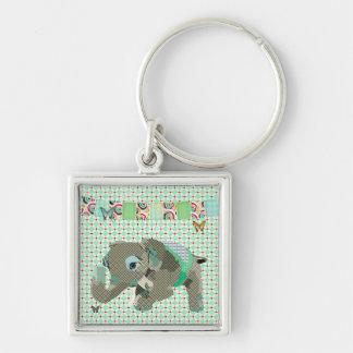 Lil Lucky Elephant Green Keychain