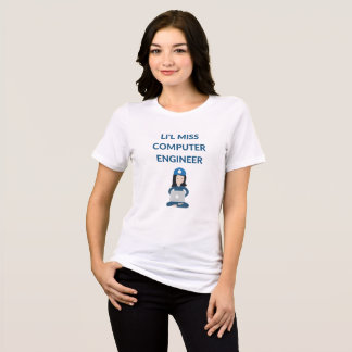 Li'l Miss Computer Engineer Funny T-Shirt
