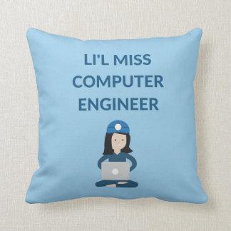 Li'l Miss Computer Engineer, Gift Throw Pillow