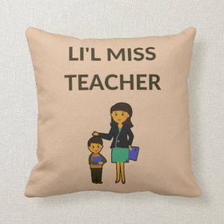 Li'l Miss Teacher, Cute Teachers Throw Pillow