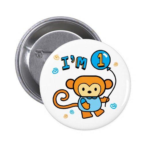 Lil Monkey 1st Birthday Pin