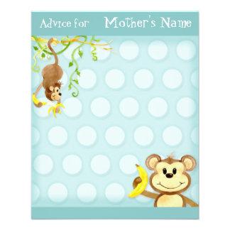 Lil Monkey, Boy Baby Shower Advice Flyer