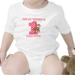 Lil Monkey Girl First Birthday Shirt