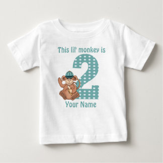 Lil Monkey Personalised 2nd Birthday Shirt