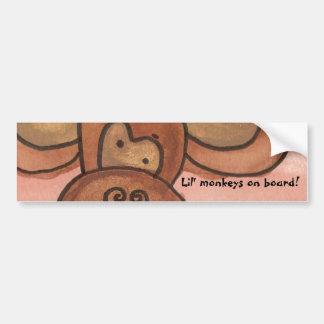 Lil' monkeys on board! bumper sticker